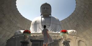 從上以上觀望佛像,更見宏偉